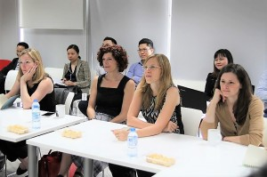 Dr. Daiana Beitler – Asia Regional Director (second from left to right) encourages women to overcome mental and physical barriers to pursue their passion for science and technology